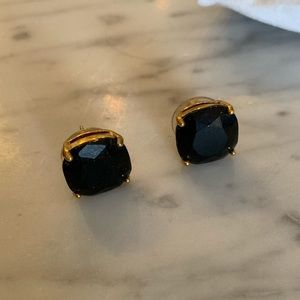Kate spade black crystal stud earrings